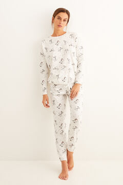 Womensecret Pijama largo estampado Snoopy  gris