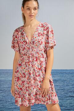 Womensecret Robe courte florale volant durable imprimé