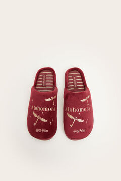 Womensecret Maroon Harry Potter house slippers printed