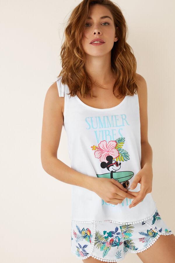 8bb7135a1e Womensecret Pijama corto tropical Mickey blanco