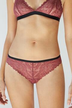 Womensecret Pink lace Brazilian panty pink