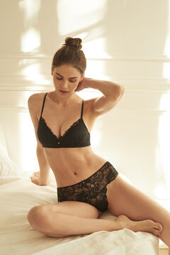 Womensecret LOVELY Black lace triangle bra black