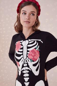Womensecret Cotton skeleton onesie black