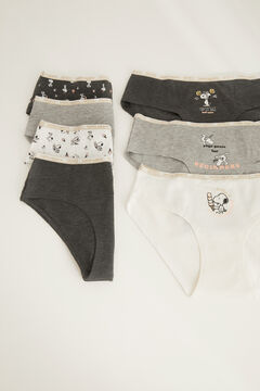 Womensecret 7-pack classic cotton full panties grey