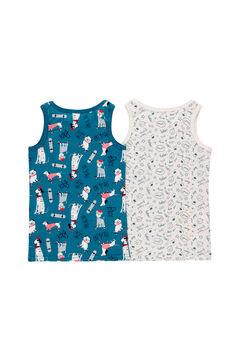Womensecret Pack 2 camiseta para menino - orgânico azul
