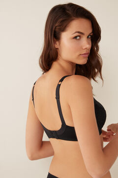 Womensecret Microfibre and lace Post-Surgery bra black