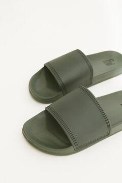Womensecret Men's green slider sandal printed