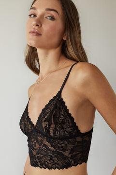 Womensecret Black lace triangular top black