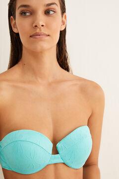 Womensecret Strukturált szövet bikinifelső kék