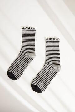 Womensecret Calcetín medio estampado lunares gris gris