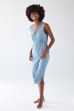 Womensecret Short blue super soft nightgown blue