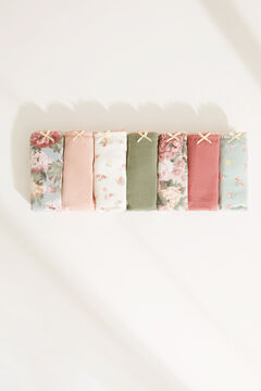 Womensecret 7-pack floral cotton tangas  printed