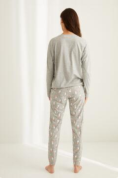 Womensecret Pyjama long Miffy coton  gris