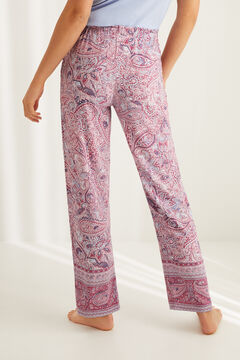 Womensecret Long cotton paisley bottoms white
