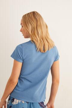 Womensecret Short-sleeved Henley t-shirt blue