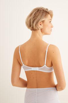 Womensecret Push up mesh and lace bra white