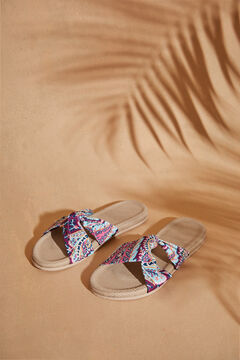 Womensecret Paisley print knot sandals nude