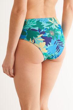 Womensecret High waist belted bikini bottoms blue