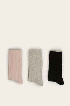 Womensecret 3-pack long ribbed socks  printed