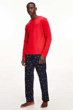 Womensecret Printed jersey-knit pyjama set printed