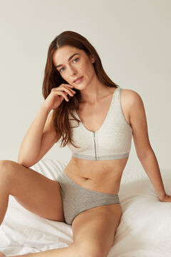 Womensecret FANTASTIC Post-Surgery bra with zip grey