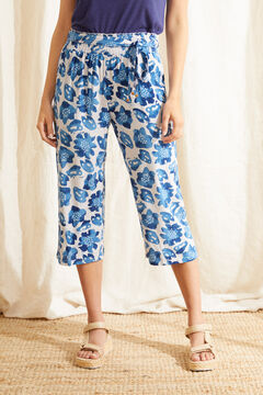 Womensecret Blue tropical print capri pyjama bottoms blue