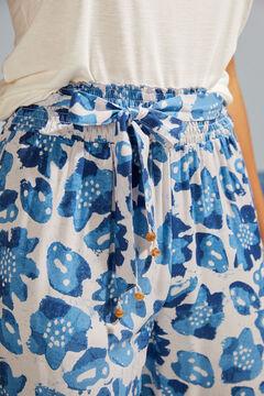 Womensecret Calças Capri estampagem tropical azuis azul