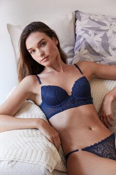 Womensecret BEAUTIFUL Classic cobalt blue bustier style bra blue