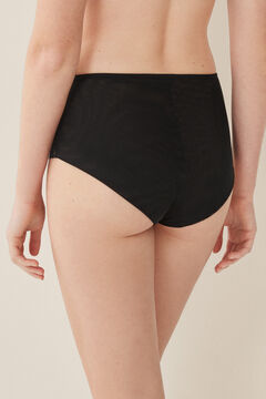 Womensecret High waist flocked panty black