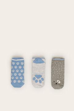 Womensecret Pack 3 meias curtas azul