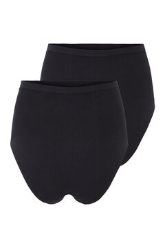 Womensecret Organic cotton maternity panties noir
