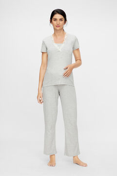 Womensecret Organic cotton maternity pyjama set  grey