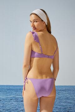 Womensecret Purple asymmetric bandeau bikini top pink