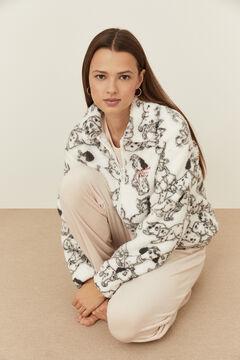 Womensecret Robe de chambre polaire 101 dalmatiens blanc