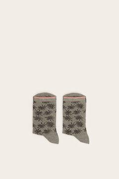Womensecret Középhosszú mintás zokni szürke