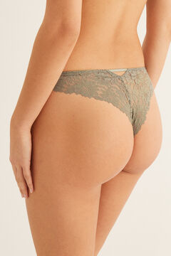 Womensecret Guipure Brazilian panty green