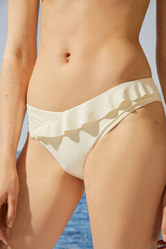 Womensecret High-waist beige bikini bottoms in recycled fabric beige