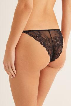 Womensecret Classic lace panty black