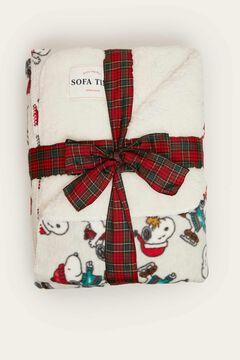 Womensecret Snoopy mintás, fehér takaró szürke