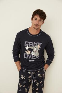 Womensecret Pijama Tom y Jerry algodón azul azul
