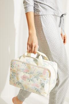 Womensecret Große Kosmetiktasche Koffer-Design Blumen mit Print
