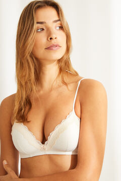 Womensecret LOVELY Triangle bra without underwire nude