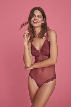 Womensecret Body triangle bretelles dentelle rose rose
