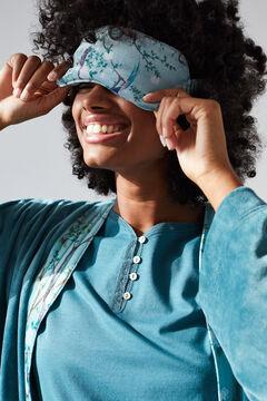 Womensecret Coordonné print sleep mask blue