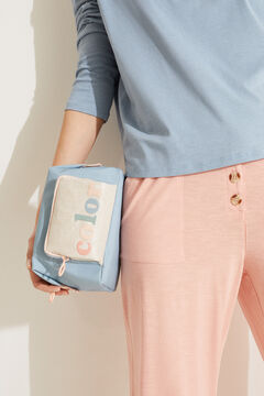 Womensecret Mittelgroße Kosmetiktasche Etui-Format Nylon Blau Blau