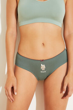 Womensecret 7-pack cotton Snoopy panties  green