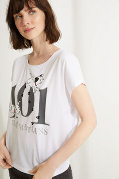Womensecret Cotton 101 Dalmatians short-sleeved capri pyjamas white