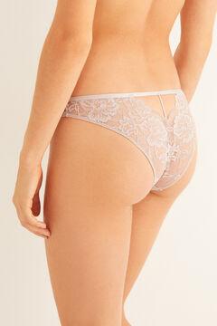 Womensecret Classic ecru lace panty  grey