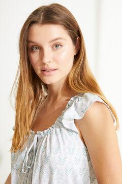 Womensecret Camisón midi 100% algodón sostenible azul azul