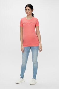 Womensecret Organic cotton maternity T-shirt burgundy